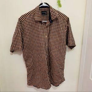 Bill & Blass Cotton Check Plain Outdoor Shirt